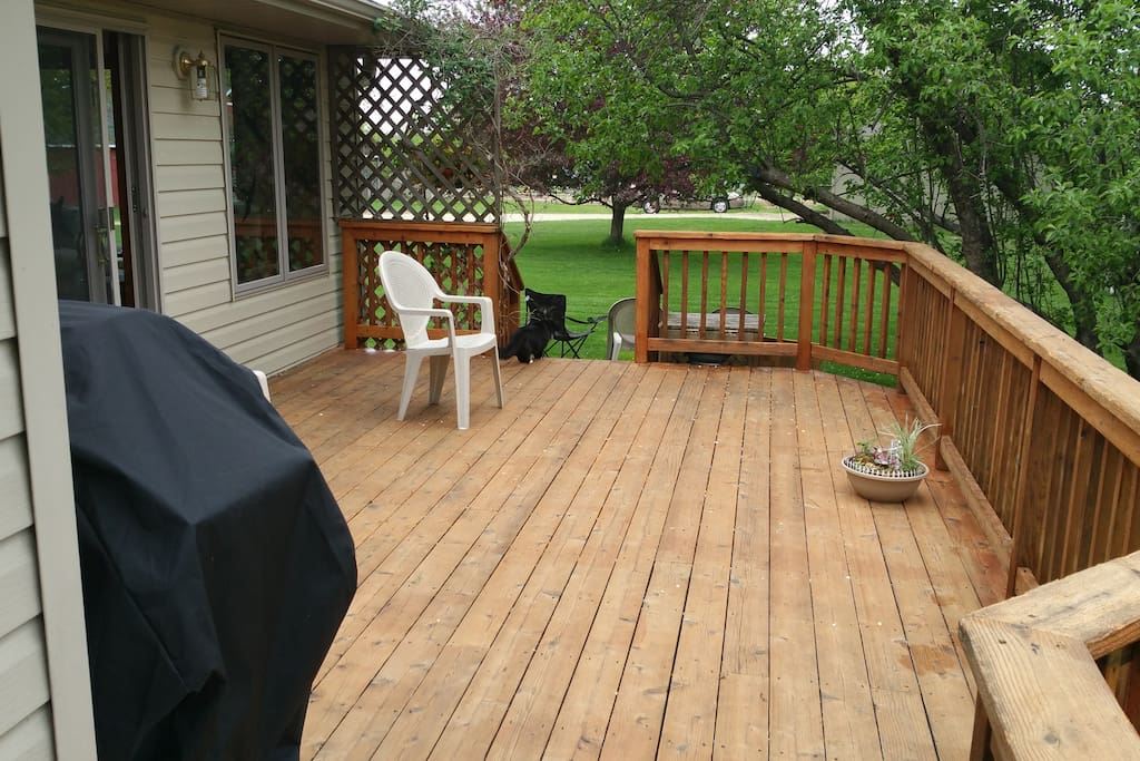 Enjoy time on the deck.