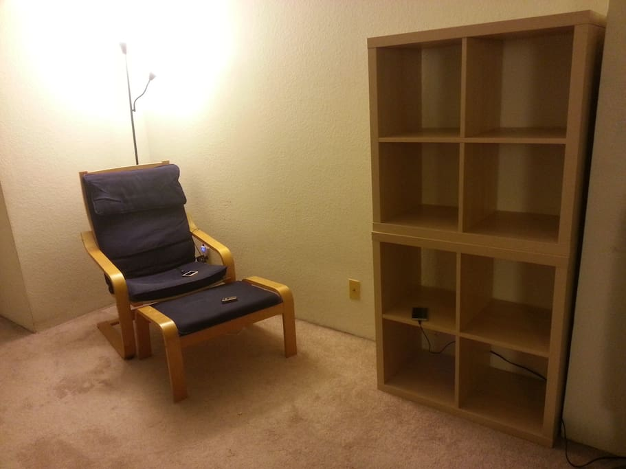 Bedroom 1. There is also a writing table and chair here.
