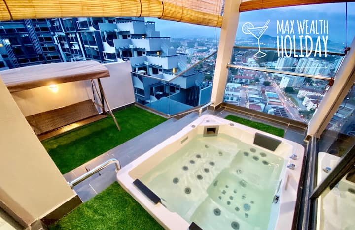 MWHolidayB2405 Private Dip Pool Suites 私人泡澡套房+WiFi