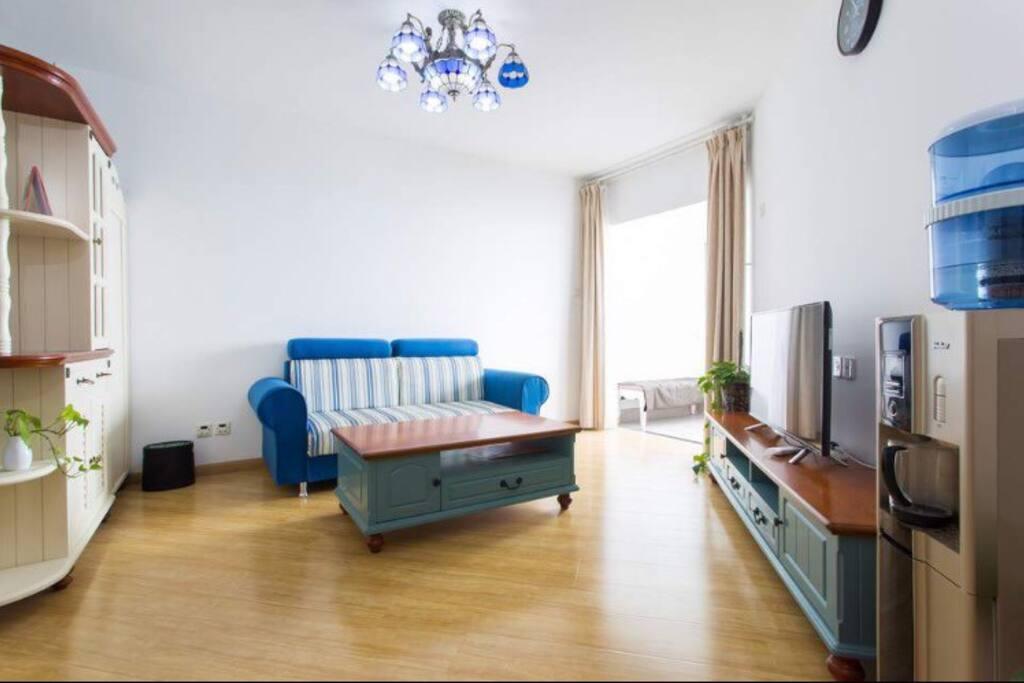 living room in Mediterranean Style 地中海风格的keting
