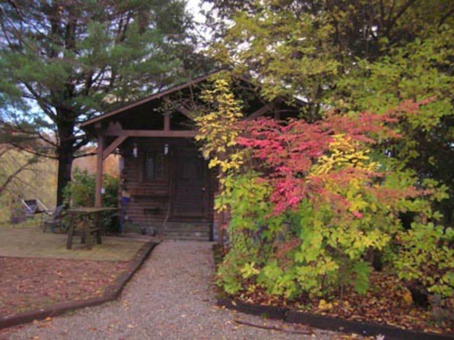Romantic hudson valley log cabin cabanes louer for Hudson log