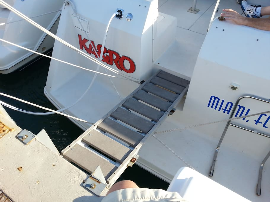 Access ramp to our boat.