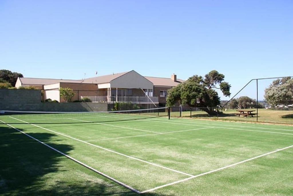 mod grass tennis court