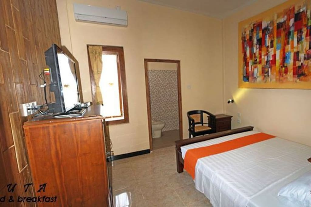 each rooms with shower, hot water, AC and Fan include TV cable