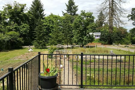 Spacious Farm Garden Loft with View