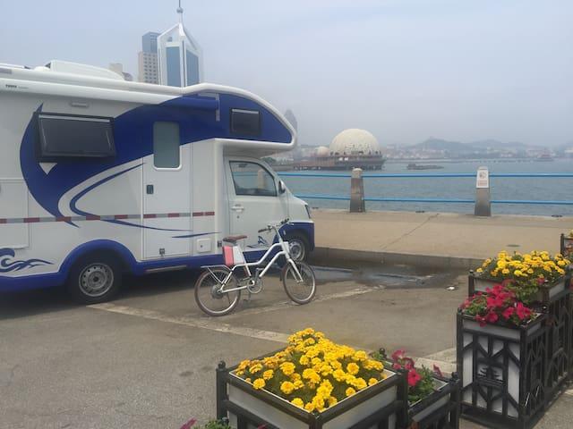 八大关风景区,我有一所小房车,可以睡在海边听海浪,面朝大海春暖花开~101
