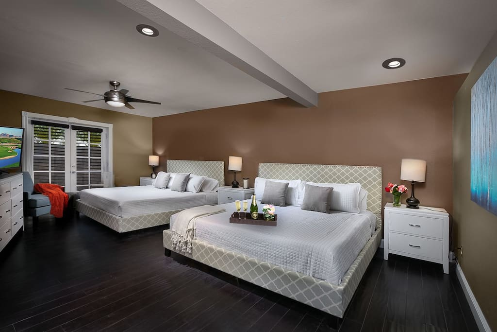 Master bedroom has two King beds