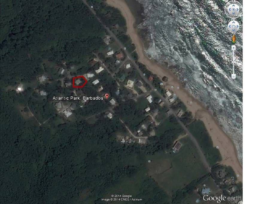 Satellite view of our location.