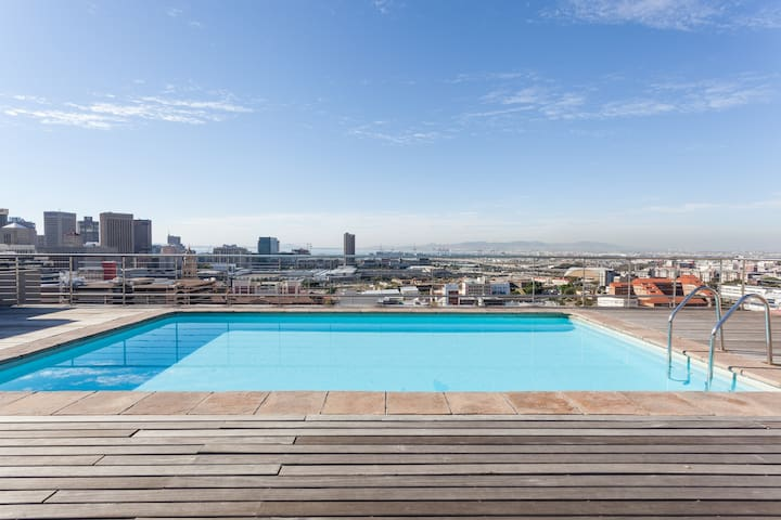 View of city from pool