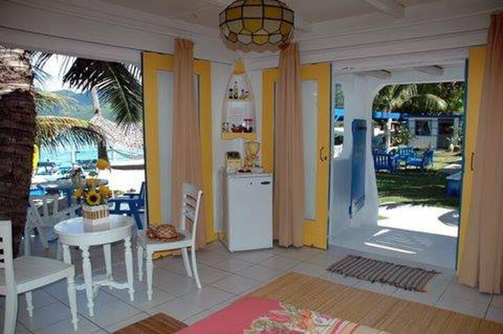 Villa studio Bord de Mer, vue lagon -  TEAVARO