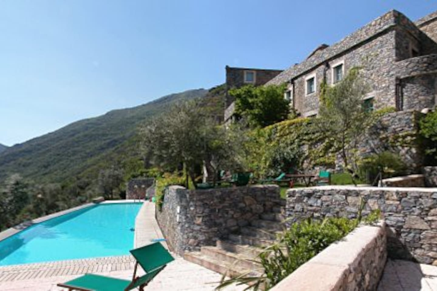 Pool with views stretching up and down the unspoilt valley