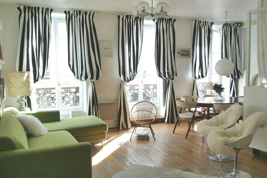 Paris 2eme huge 55m2 retro design studio flats for rent for 55m2 apartment design