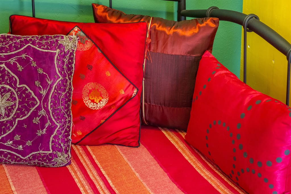 nice colored pillows from my trips around the world :)