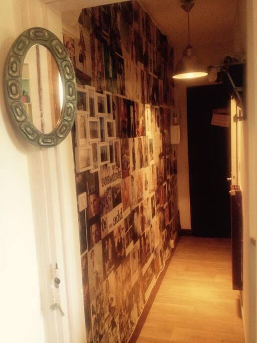 Couloir d'entrée original.