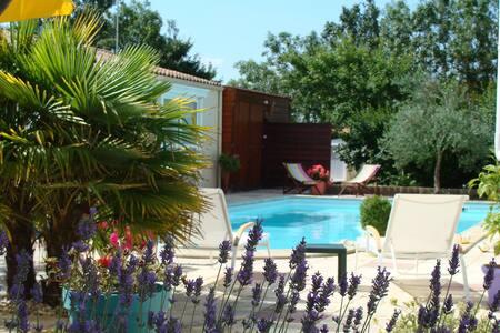 chambre double vue sur jardin La Rochelle Esnandes - Aamiaismajoitus