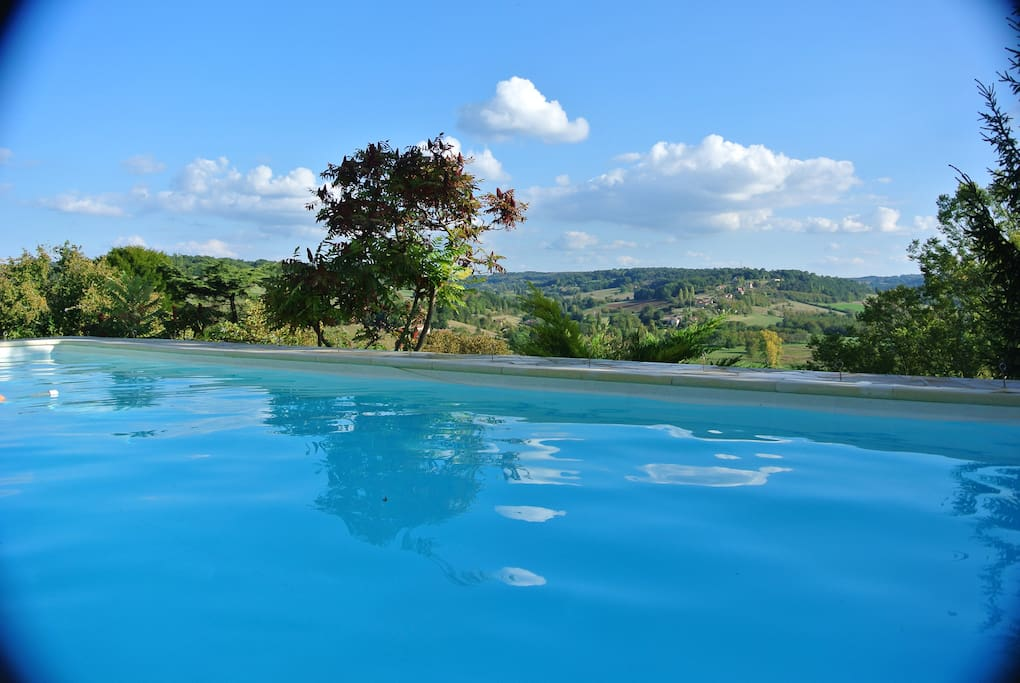 Wonderful views of the valley from the swimming pool.