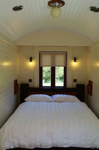 The bedroom end of the carriage