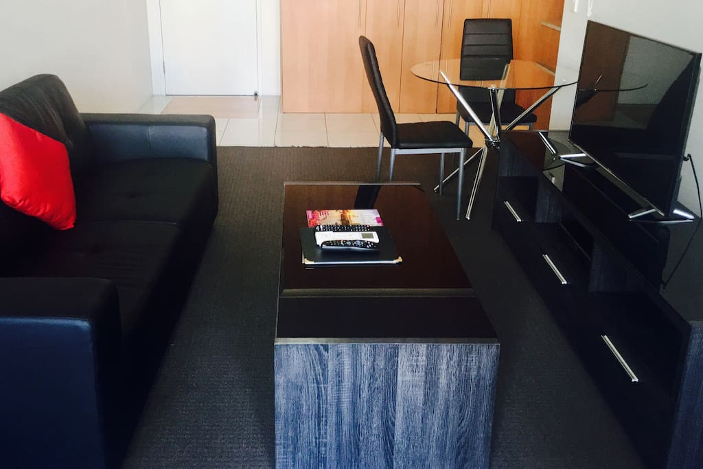 Living room with FREE Foxtel and Wireless Internet