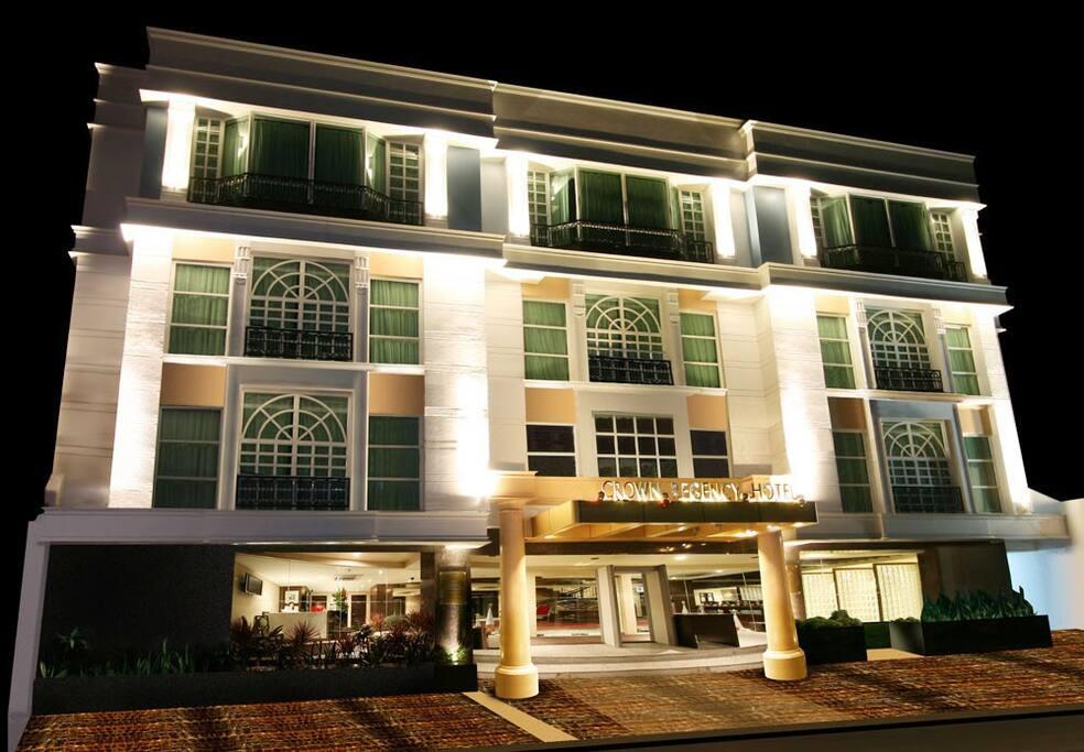 Night view of hotel