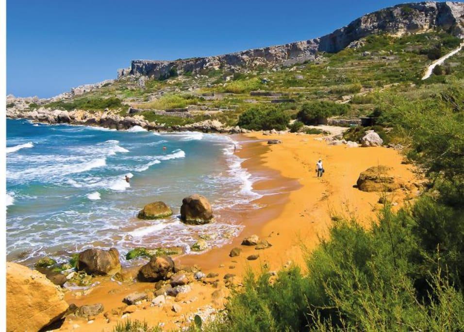 San Blas bay in Gozo
