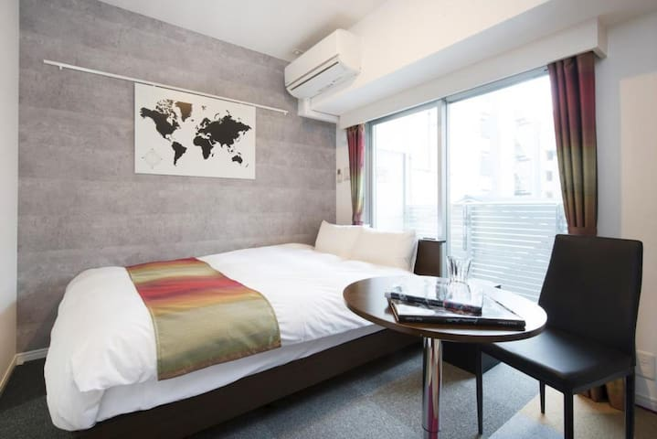 【Standard Room】 Near Hakata station. It is convenient for sightseeing in the center of the city.