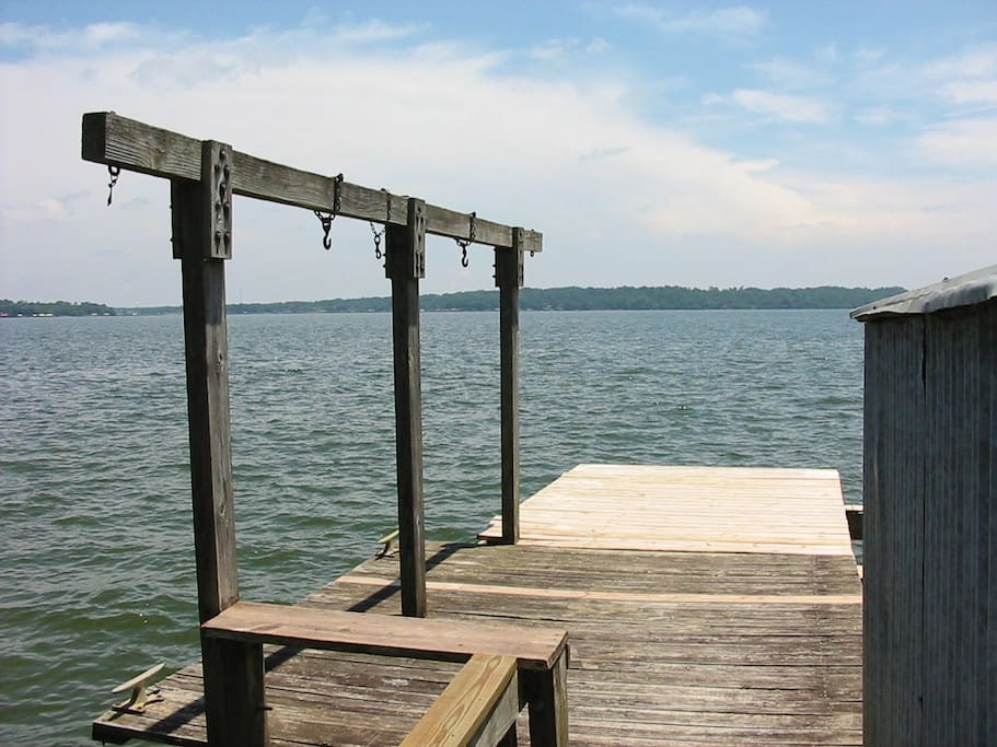 End Of dock looking out at lake