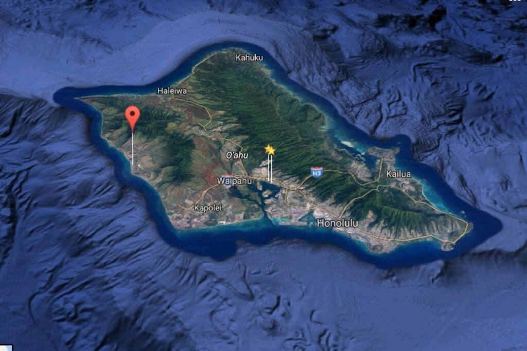 We are located here...AWAY from Waikiki.