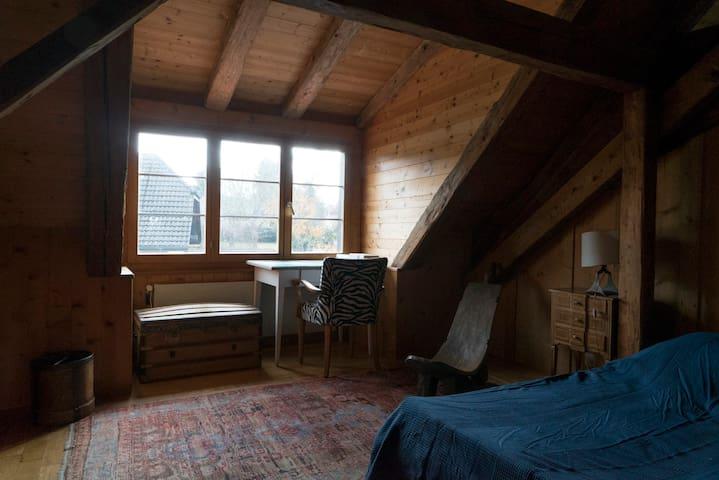 Magnifique appartement en bois avec grand  jardin