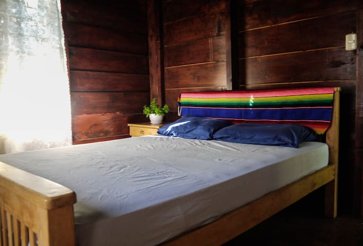 Room with double bed on second floor.