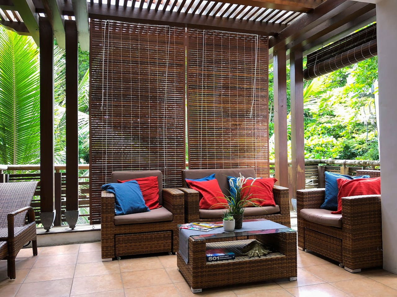 Spacious patio to enjoy and relax.
