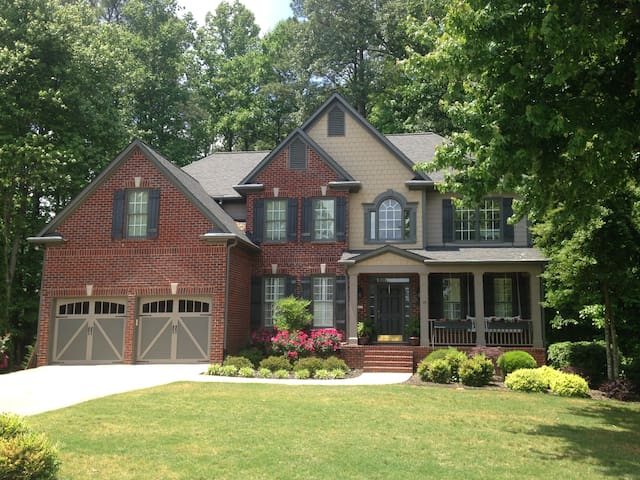 Welcome home to your private space just a half mile from downtown Alpharetta.