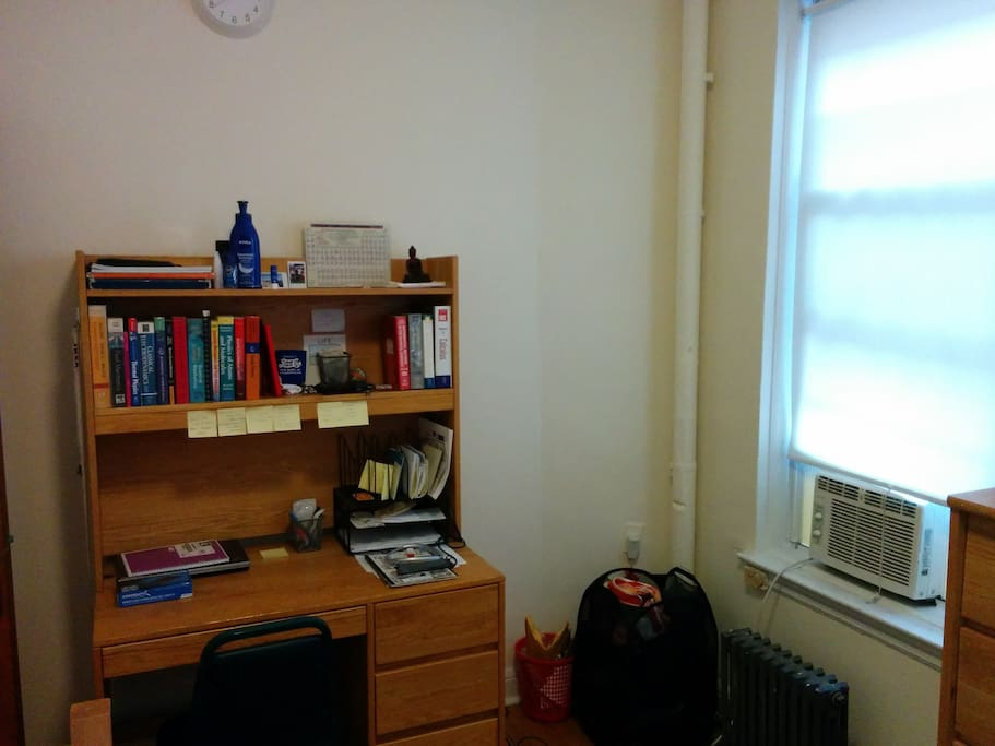 Desk. The books will be gone.