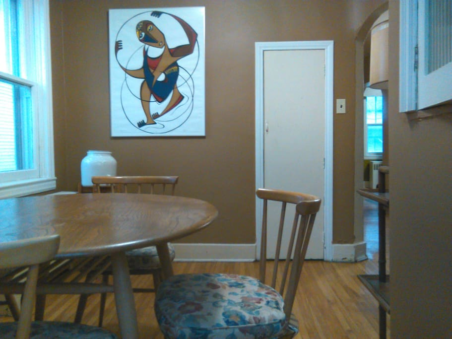 Dining room area - table seats 5.
