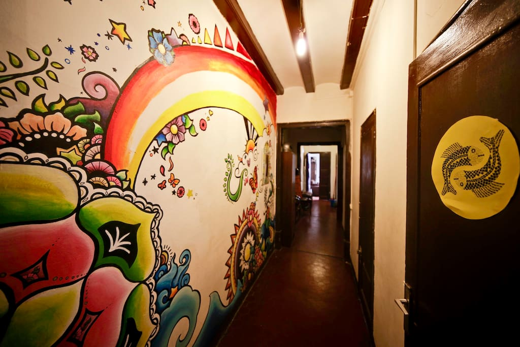 painted wall murals by Ellen Stapleton - a famous guest of ours from 2012