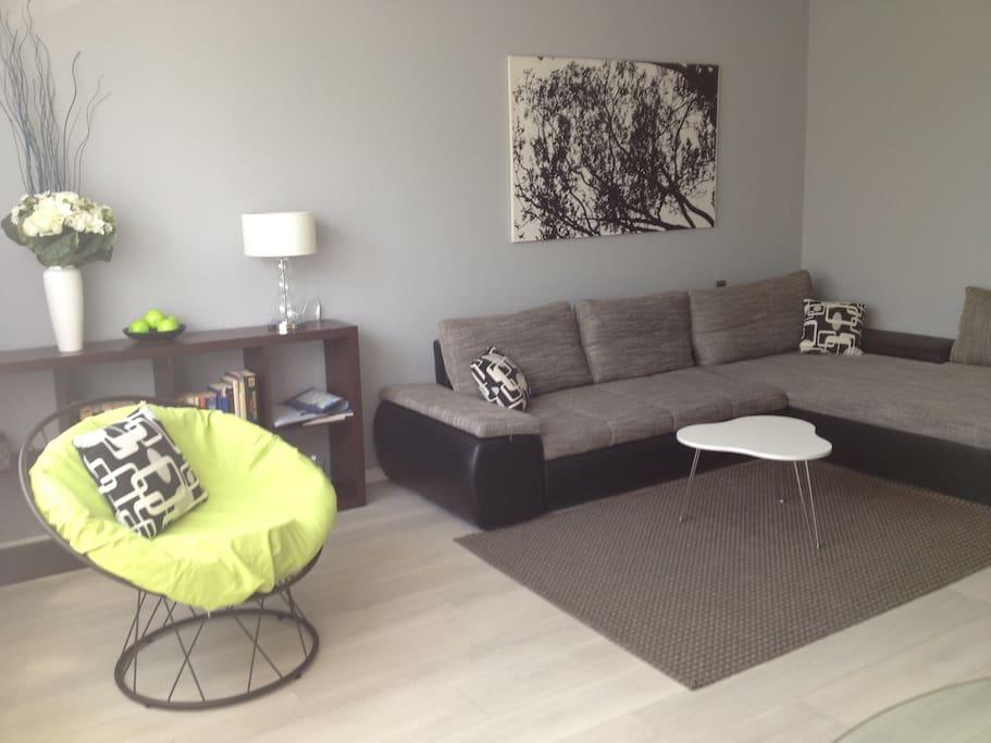 Living room - sofa 3,2x2,0 large enough to sleep 2 people