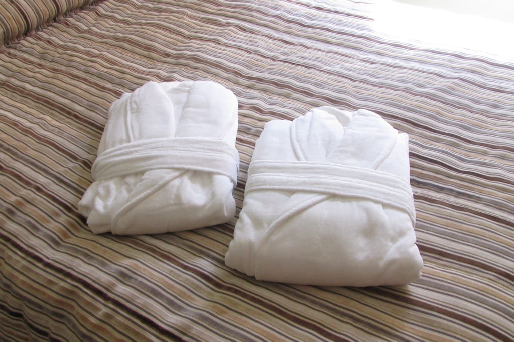 2 Bath robes that you can use during your stay!