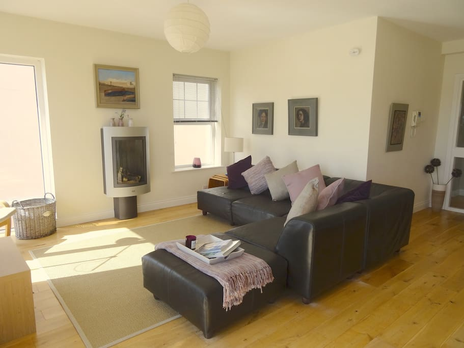Relax in our spacious and bright living area