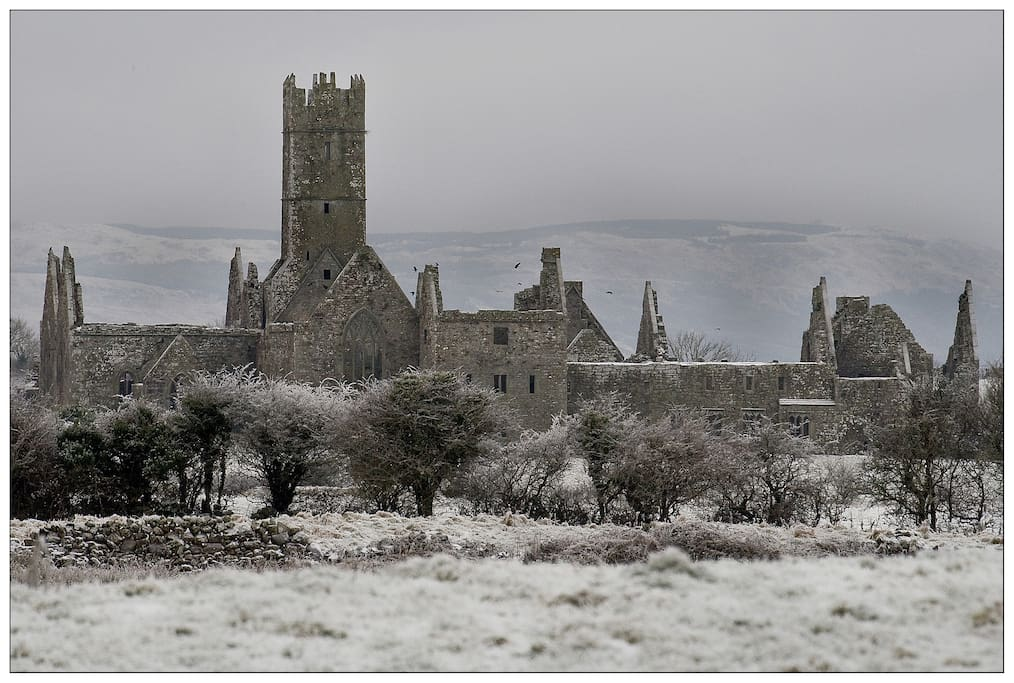 Ross Abbey 1km from house