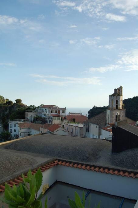 panorama  borgo di Pontone dal solarium