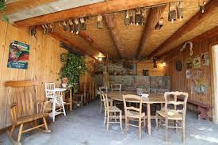 salle à manger extérieur