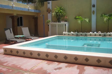 Poolside in Chelem, Mexico!