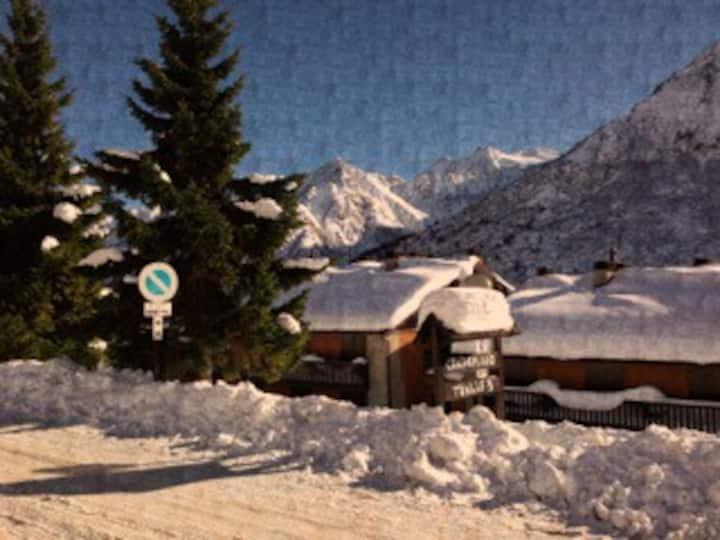 High-mountain, next to slopes