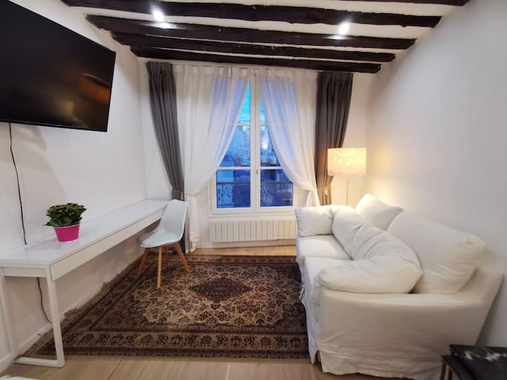 Charming Apartment in Hyper Center, 3 mins to RER