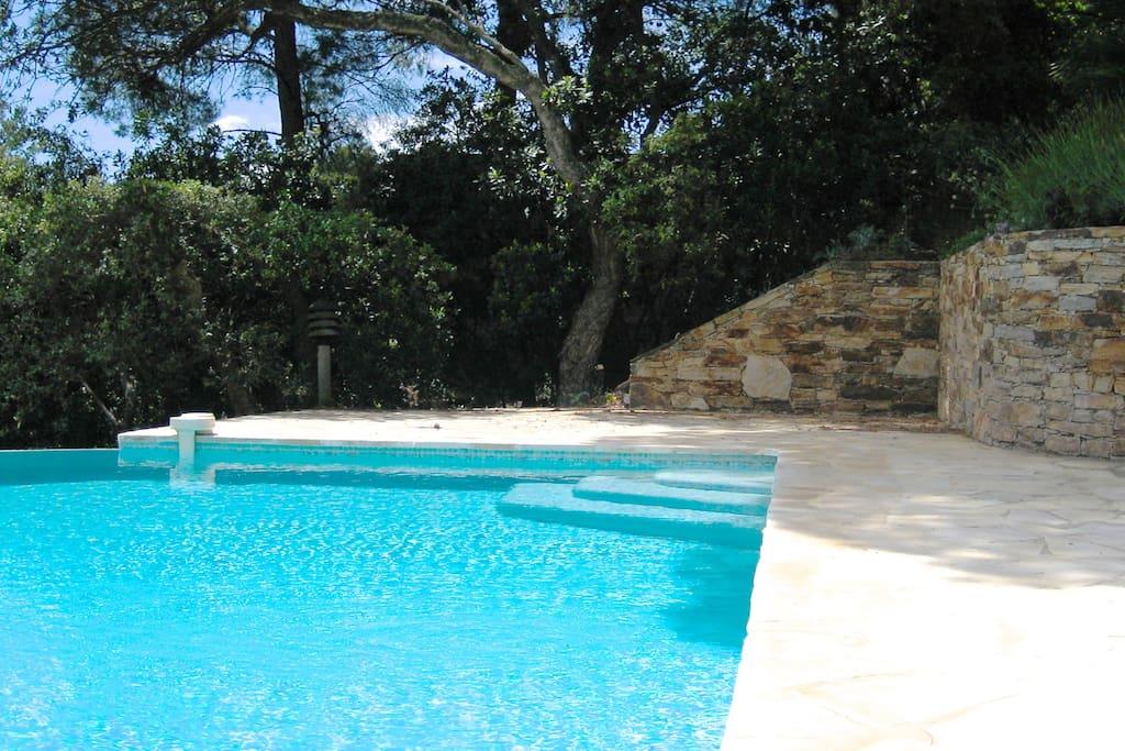 Superbe villa au gaou benat houses for rent in bormes for Camping bormes les mimosas piscine
