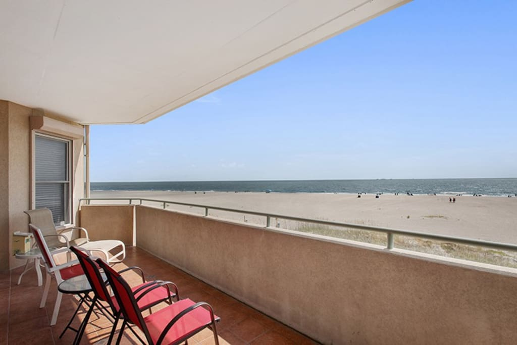 Spectacular Panoramic Vistas of Tybee Beach and the Atlantic Ocean From Your Private Balcony