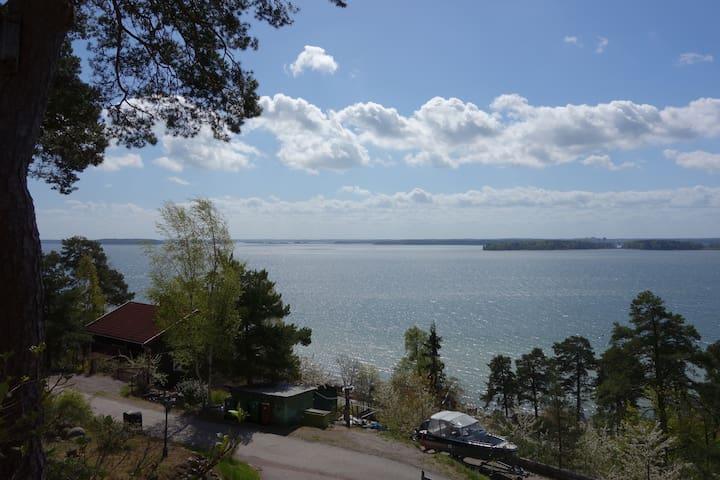 Stuga med vacker utsikt - Kolmården - Srub