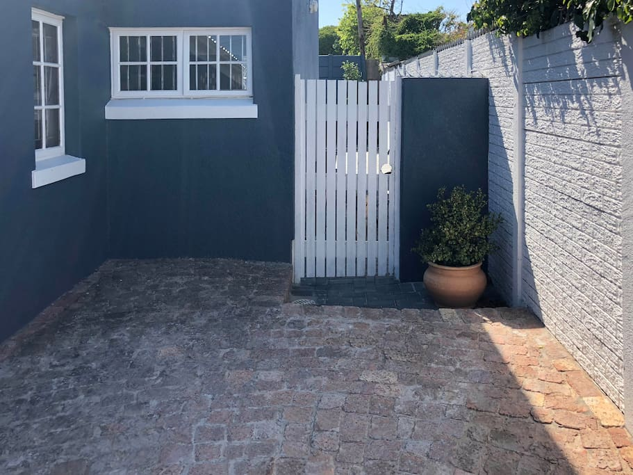 Guest parking and separate entrance to cottage