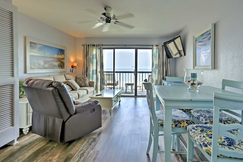 This cute condo is warmly decorated and thoughtfully designed throughout its 625 square feet of space.
