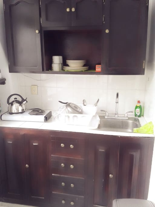 Kitchen with dishware