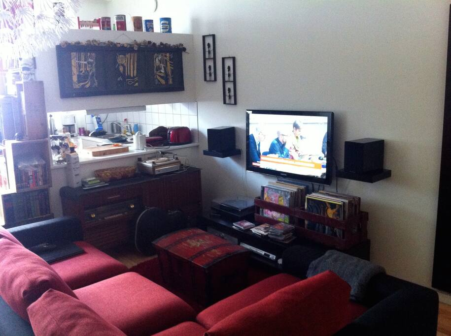 Tv and stereos available